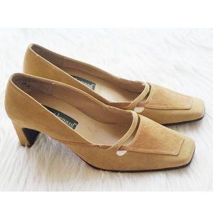 Harve' Bernard suede leather pumps heels size 9